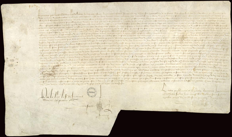 Lettres patentes accordant exemption de tailles et droit de franc salé pour dix ans